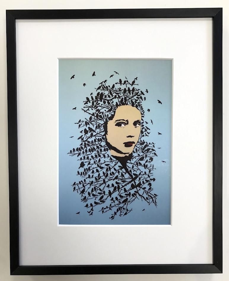 Streetart   Let her be free - gerahmter Miniprint