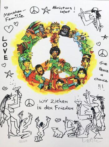 Udo Lindenberg Wir ziehen in den Frieden - Siebdruck
