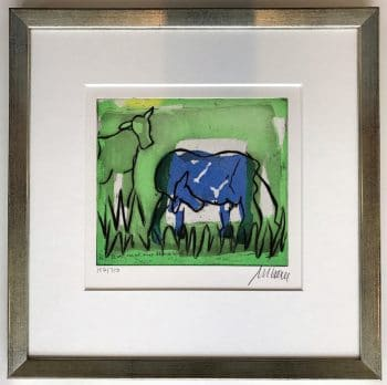 Mueller-Stahl Blaue Kuh im Grünen (gerahmt)