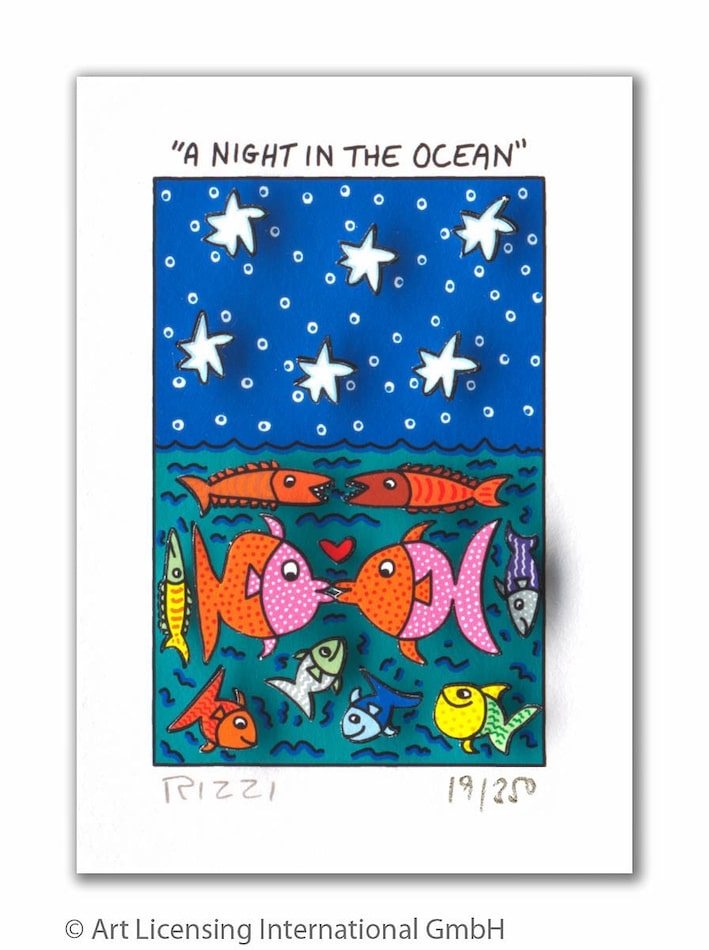 James Rizzi | A night in the ocean