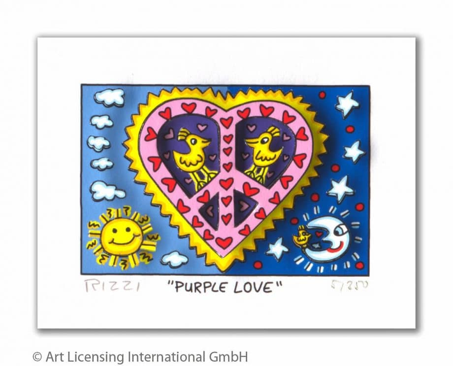 James Rizzi | Purple Love