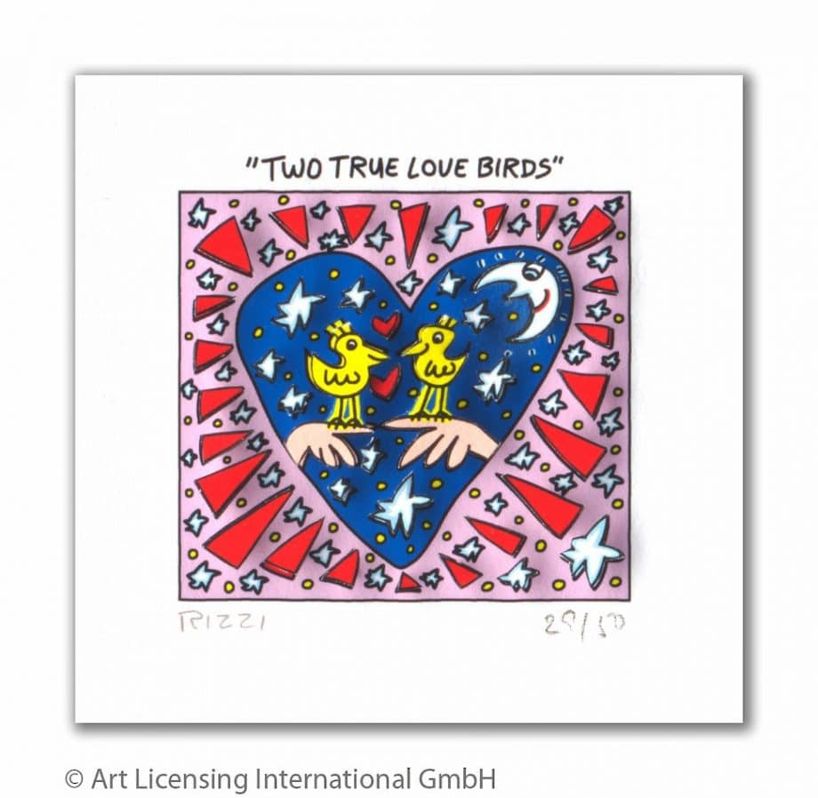 James Rizzi | Two true love birds