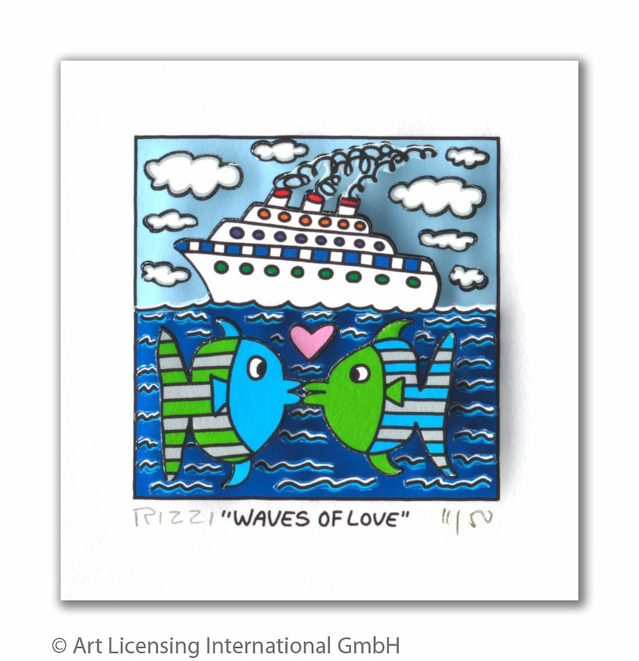 James Rizzi | Waves of love