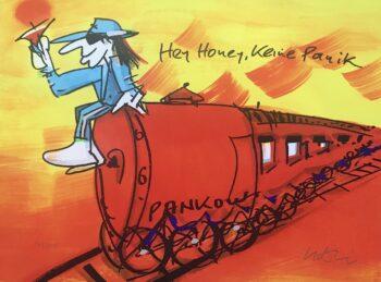 Udo Lindenberg Hey Honey keine Panik - Siebdruck