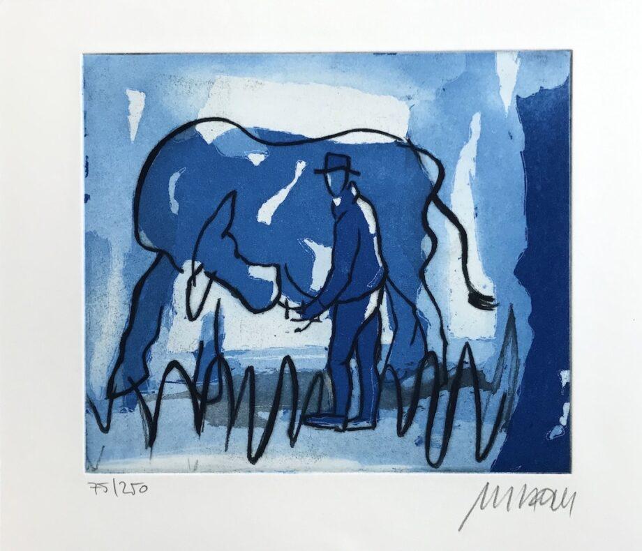 Armin Mueller-Stahl | Blaue Kuh mit Melkersmann