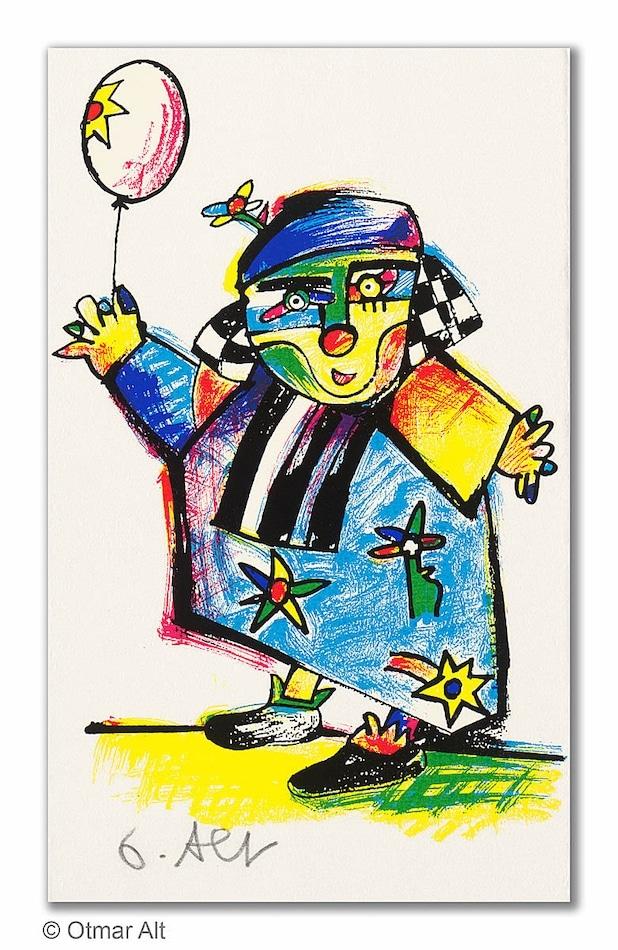 Otmar Alt August der Clown