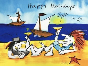 Udo Lindenberg Happy Holidays Sylt - Siebdruck