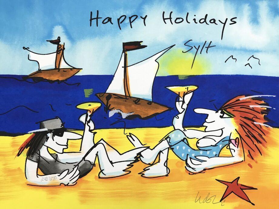 Udo Lindenberg Happy Holidays Sylt - Siebdruck
