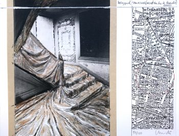 Christo | Wrapped Staircase (Project for Rue de Paradis, Paris)