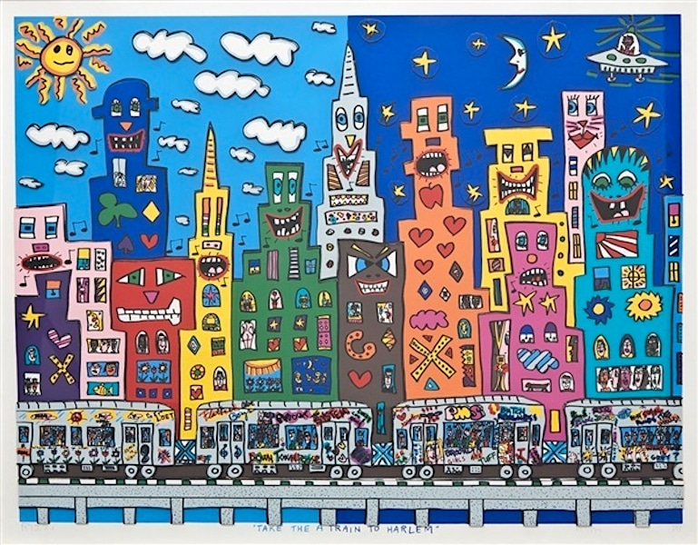 James Rizzi | Take the A Train to Harlem (gerahmt)
