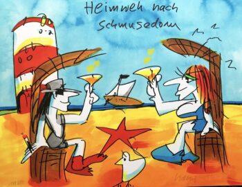 Udo Lindenberg Heimweh nach Schmusedom - Siebdruck