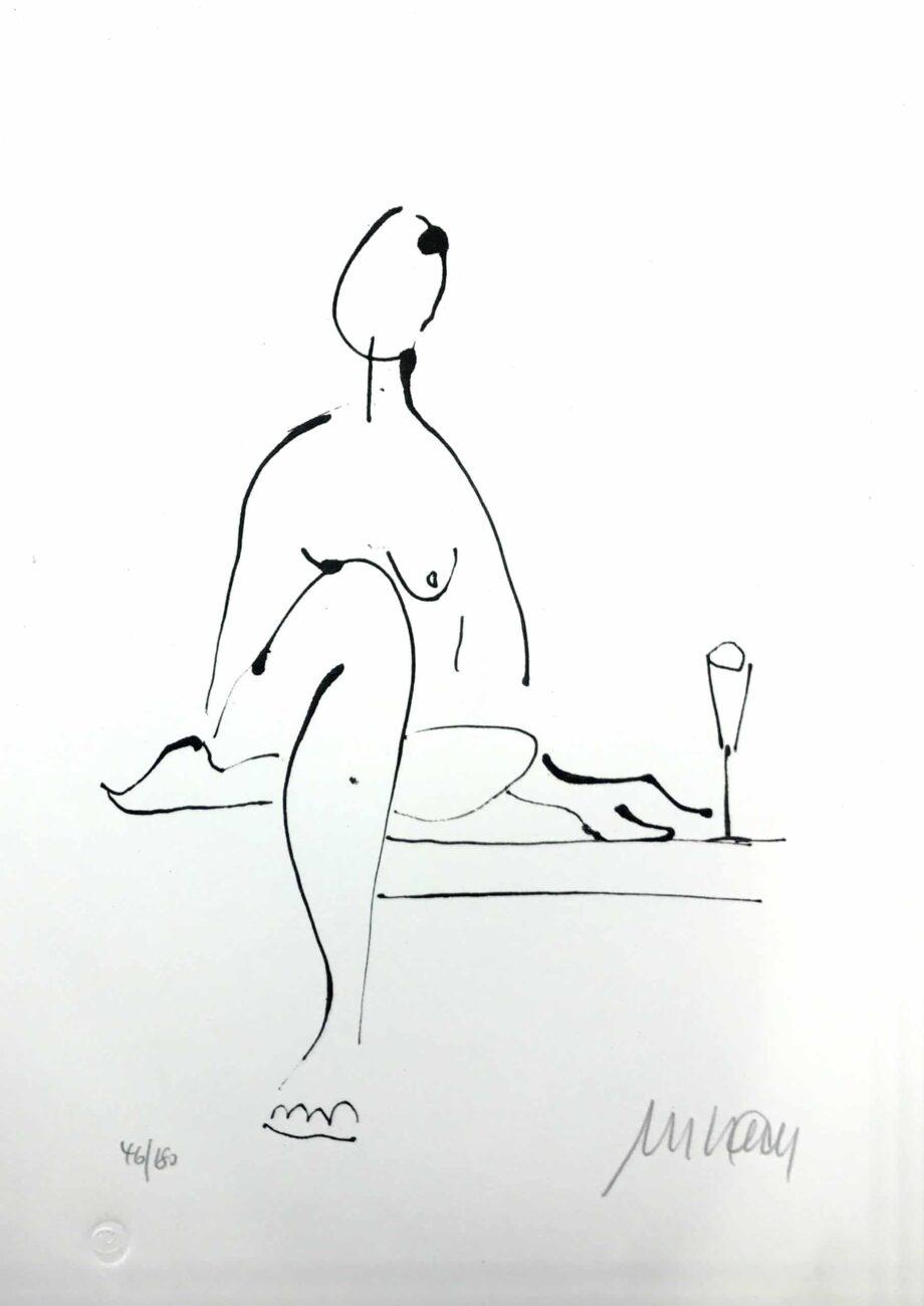 Armin Mueller-Stahl | Akt mit Wein