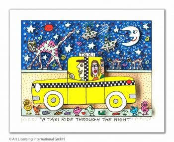 James Rizzi A Taxi Ride Through The Night