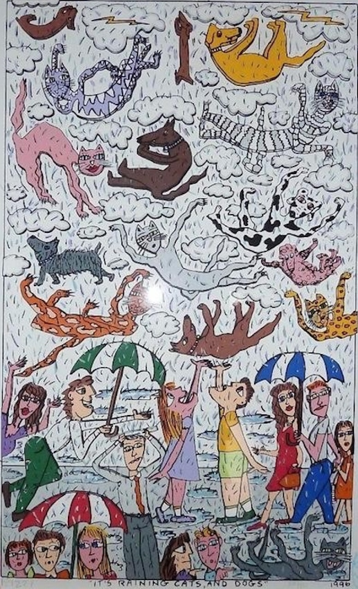 James Rizzi | It's raining cats and dogs