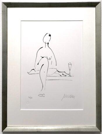 Armin Mueller-Stahl | Akt mit Wein (gerahmt)