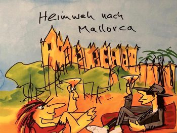 Udo Lindenberg Heimweh nach Mallorca - Siebdruck