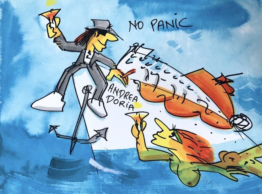 Udo Lindenberg No Panic Andrea Doria - Siebdruck