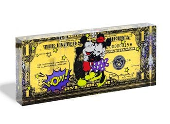 Devin Miles One Dollar Mickey Acrylblock
