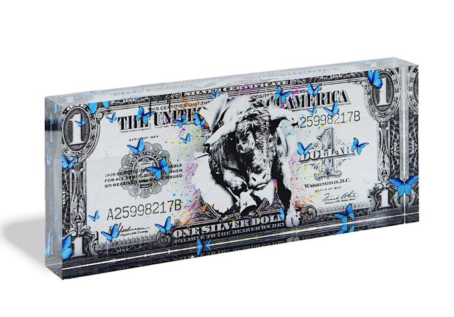 Devin Miles One Dollar silver Acrylblock