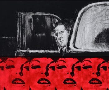 James Francis Gill Man in black car