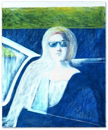 James Francis Gill Woman in Blue Car