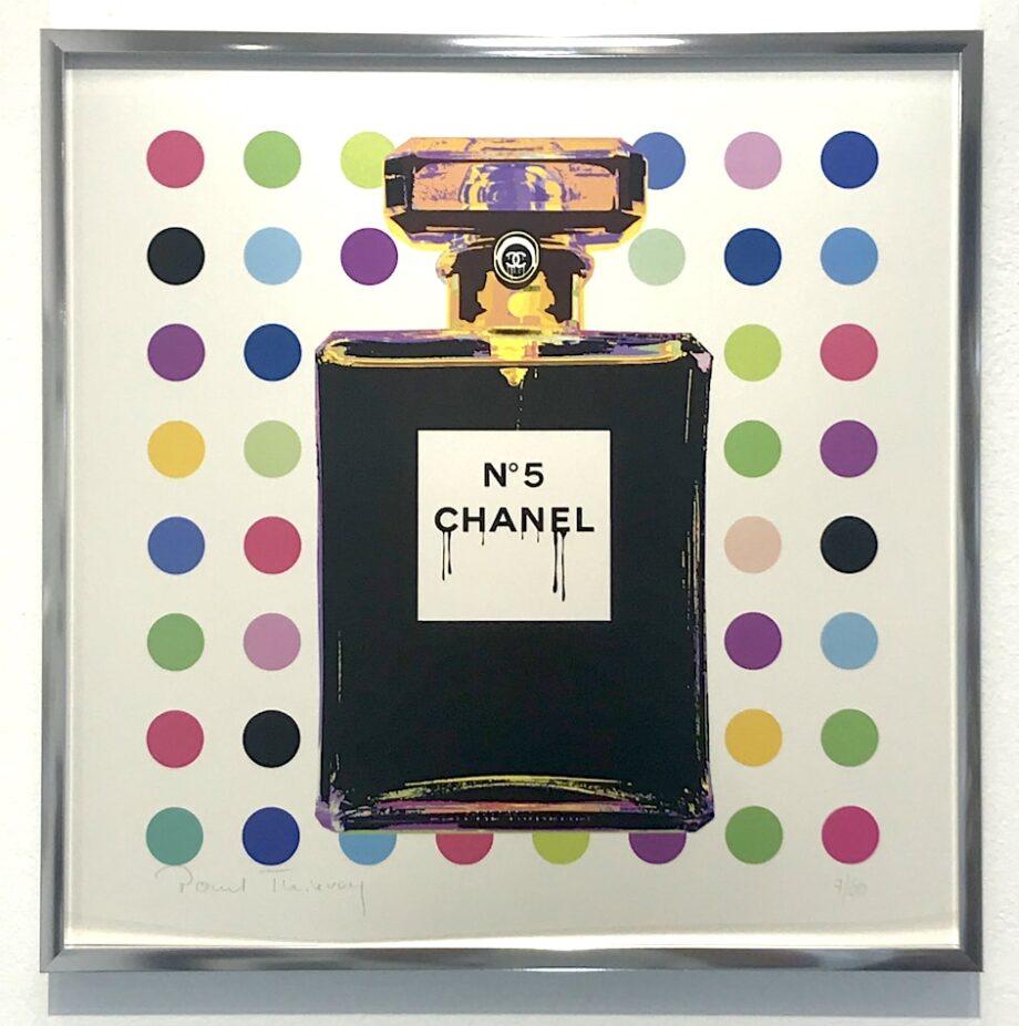 Paul Thierry Chanel No 5 (grün) gerahmt