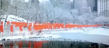 Christo The Gates Skyline im Schnee