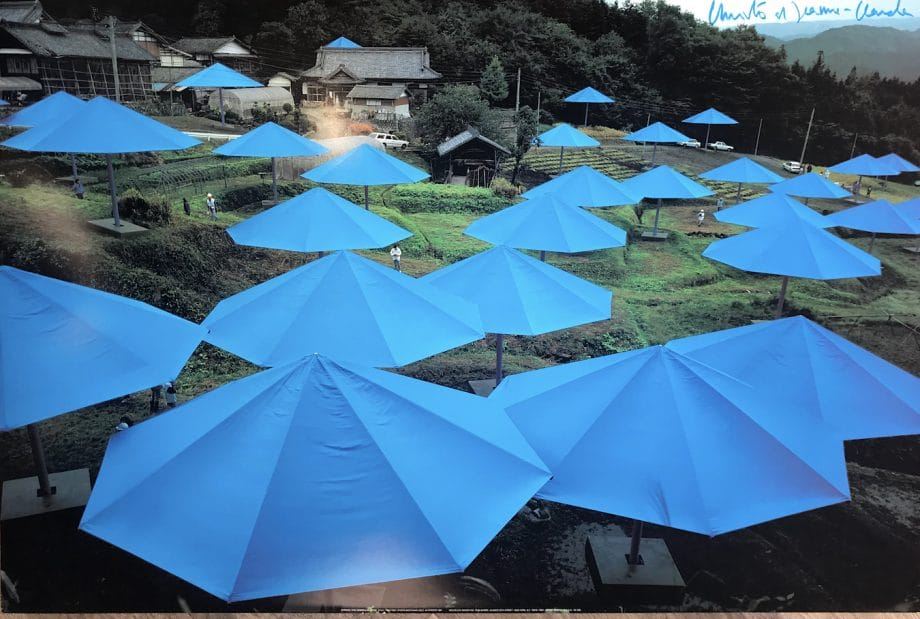 Christo-Umbrellas-Blue-1984-1991