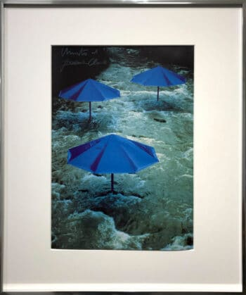 Christo Blue Umbrellas handsigniert