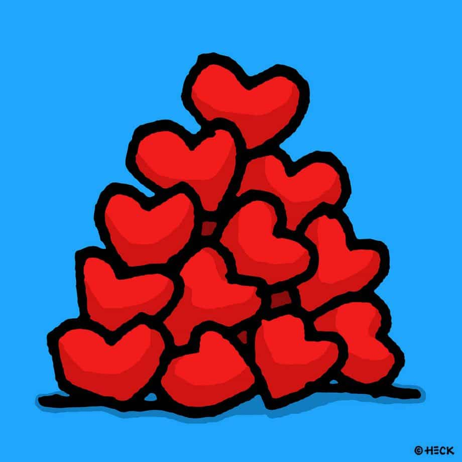 Ed Heck Heart Pile