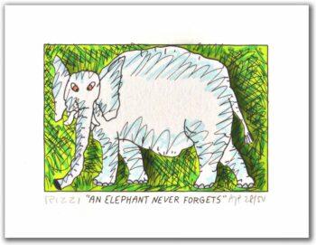 James Rizzi An Elephant Never Forgets