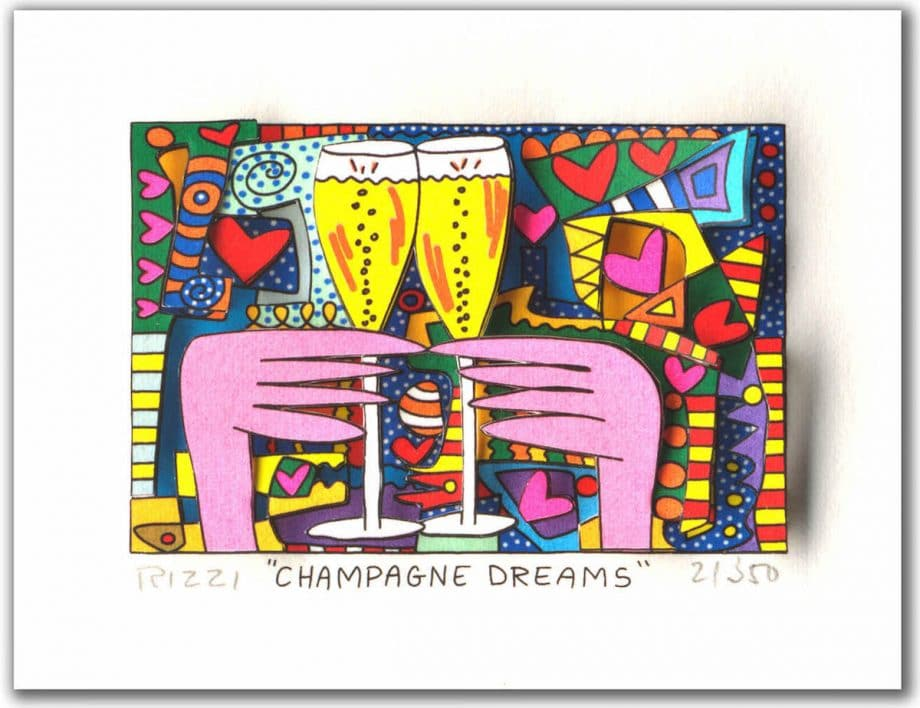 James Rizzi Champagne Dreams