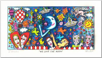 James Rizzi We Love The Moon