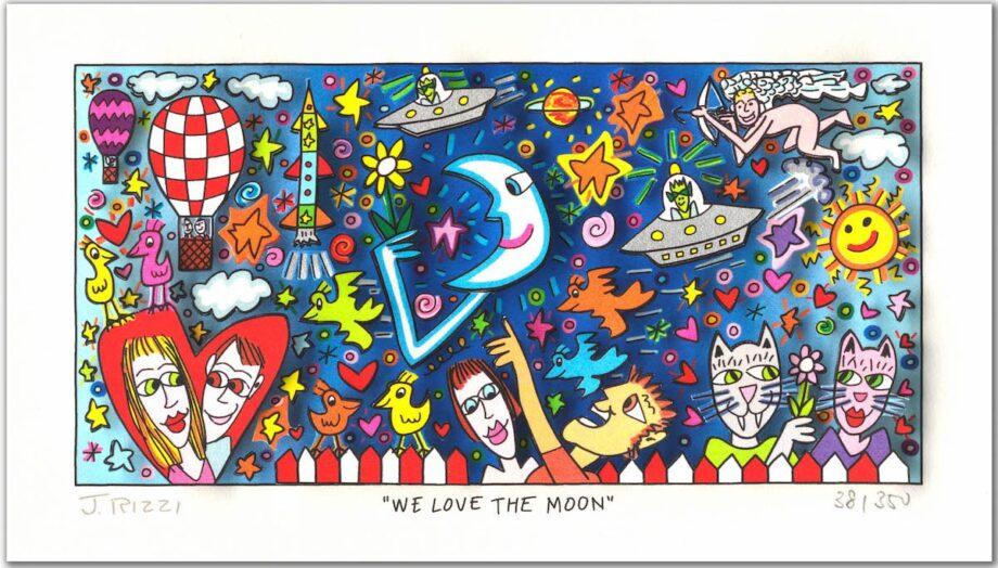 James Rizzi We Love The Moon