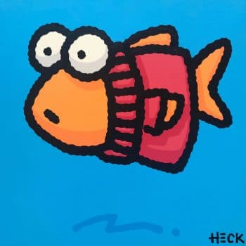 Ed Heck Fish In The Red Sweater
