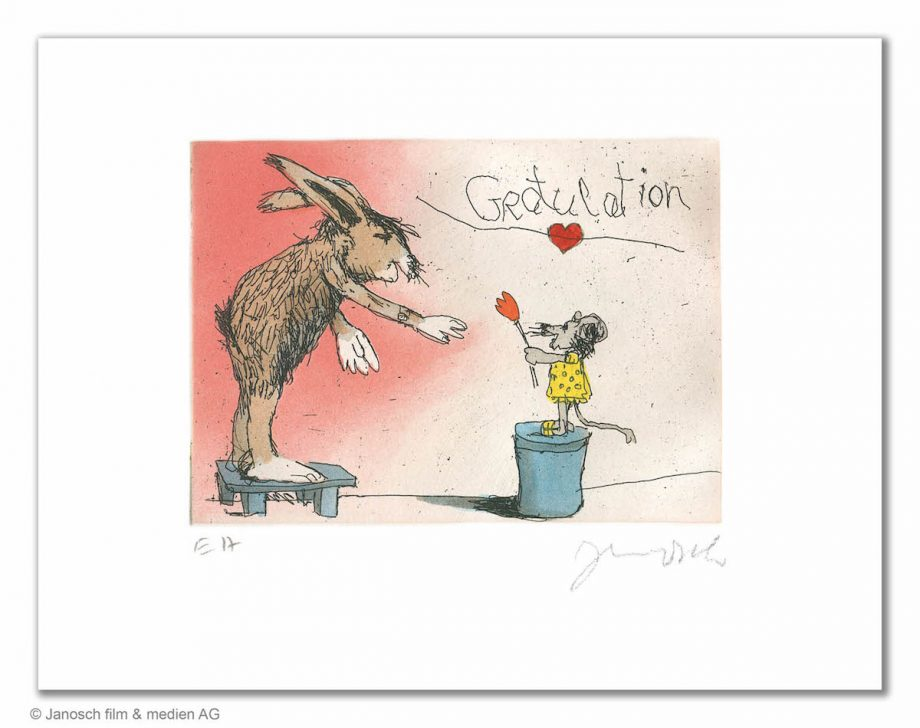 Janosch Gratulation du lieber Hase
