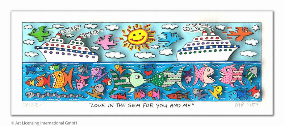 James Rizzi Love in the sea for you and me