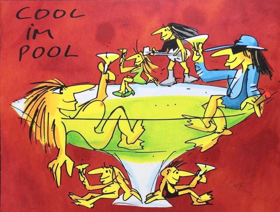 Udo Lindenberg Cool im Pool