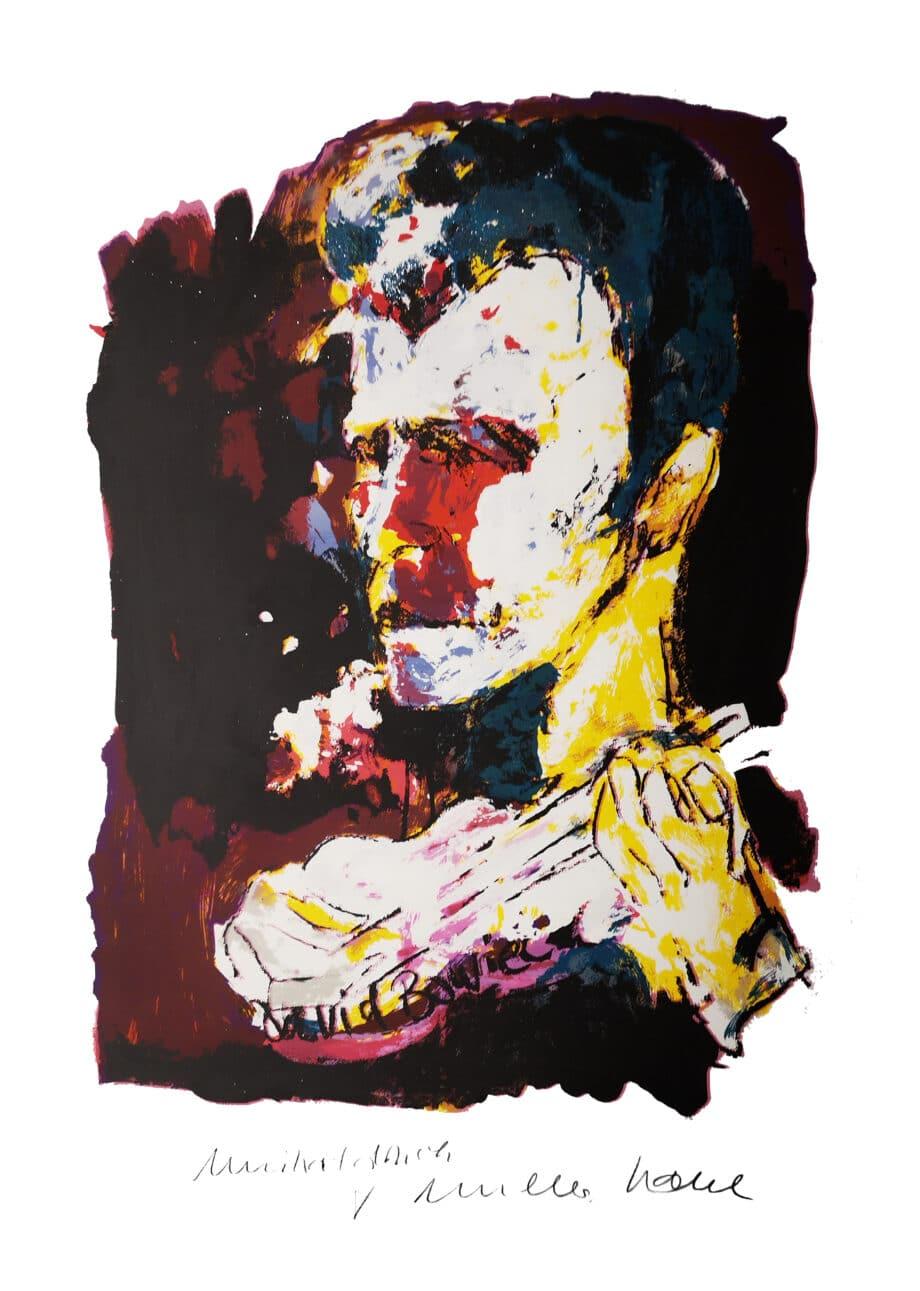 Armin Mueller-Stahl David Bowie Unikatdruck Edition Stardust 2
