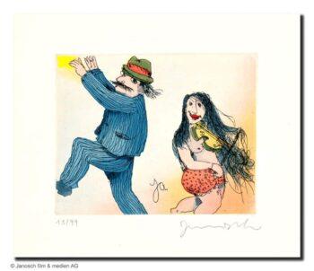 Janosch Mann und Frau tanzen