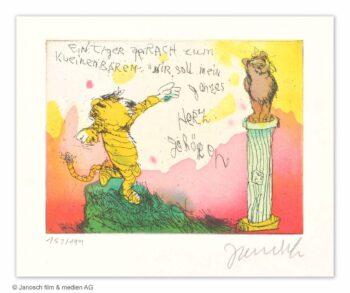 Janosch Ein Tiger sprach zum kleinen Bären