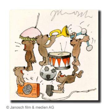 Janosch Kleine Bären musizieren