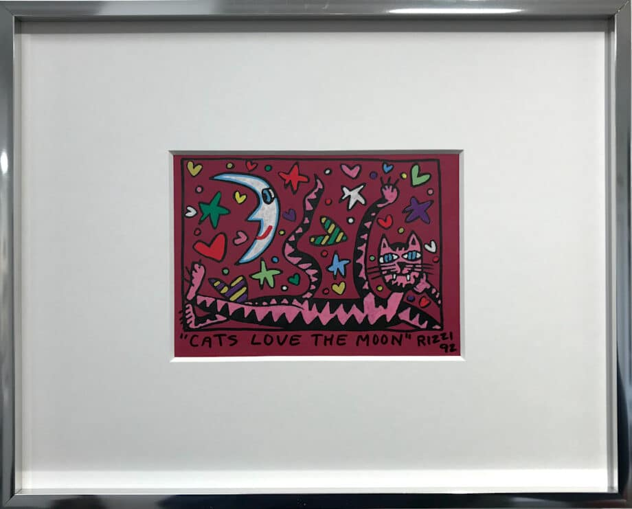 James Rizzi Cats love the moon