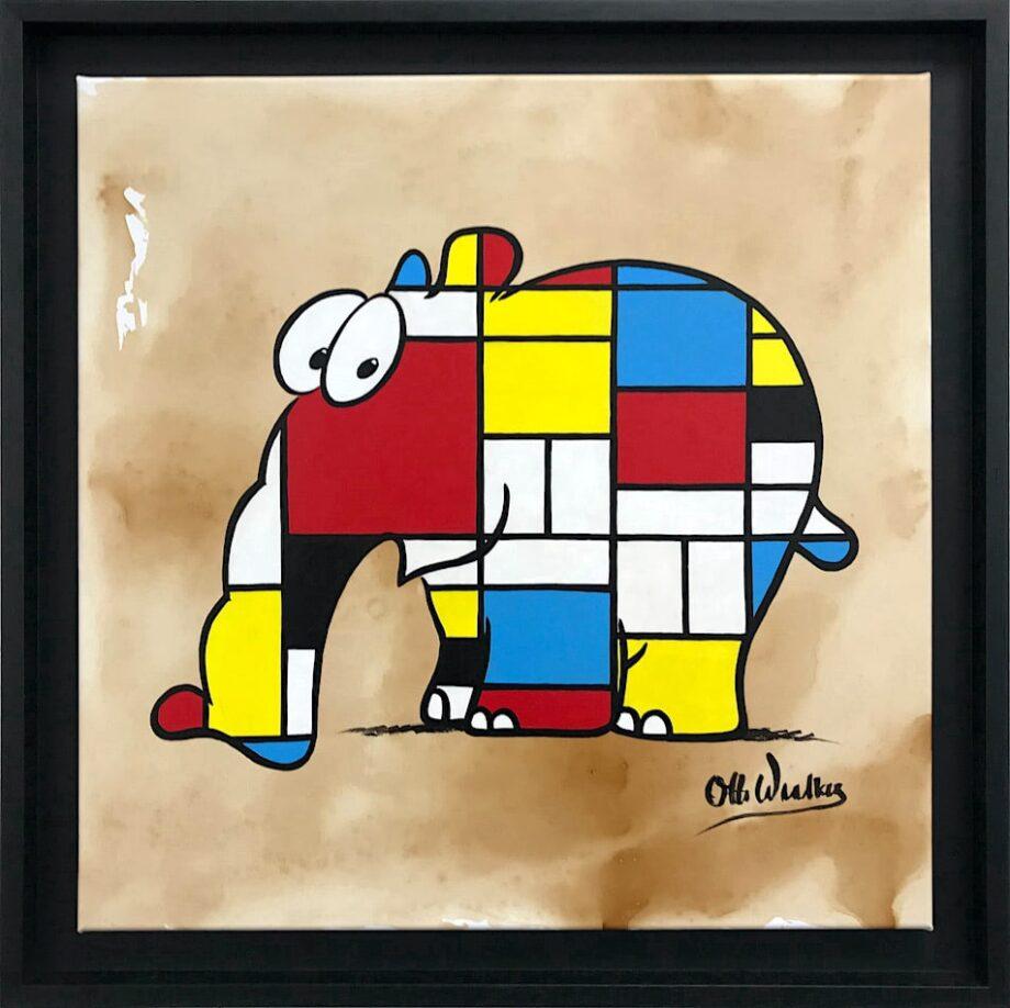 Otto Waalkes Hommage an Mondrian
