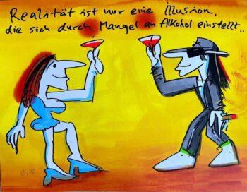 Udo Lindenberg Realität ist nur eine Illusion die sich durch Mangel an Alkohol einstellt