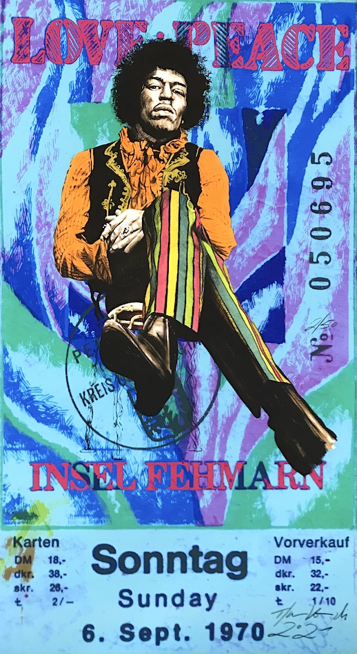 Thomas Jankowski Jimi Hendrix blau