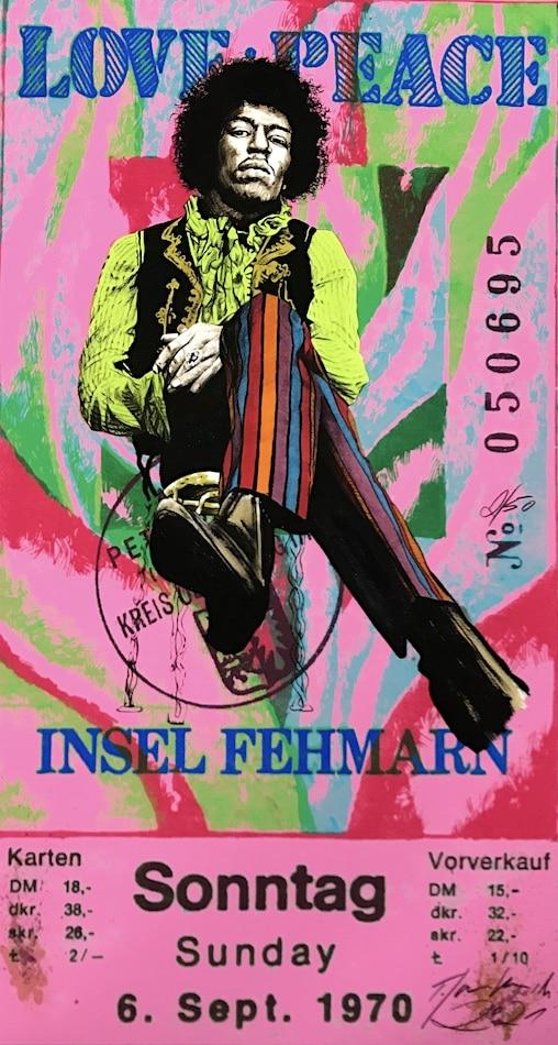 Thomas Jankowski Jimi Hendrix pink