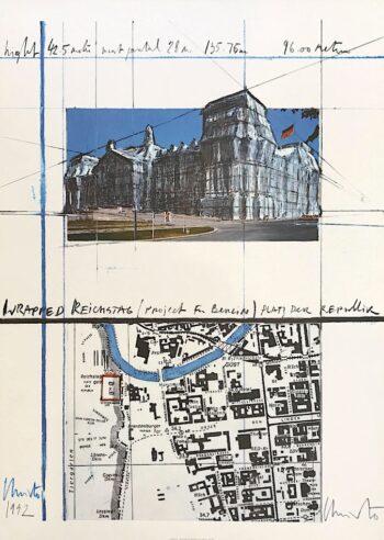Christo Verhüllter Reichstag XXI handsigniert