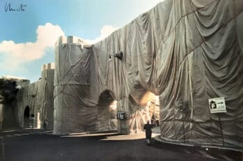 Christo Wrapped Roman Wall