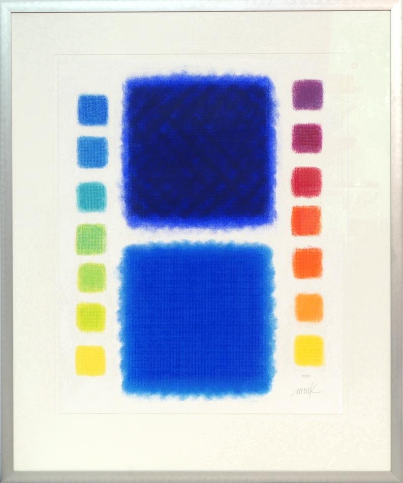 Heinz Mack Farbduett blau/blau